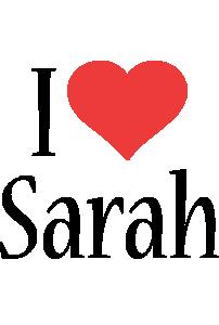 Sarah i-love logo