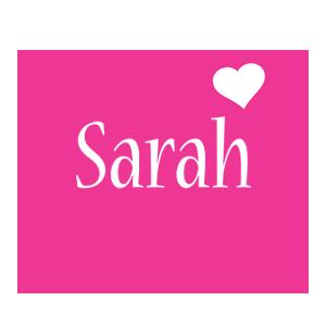 Sarah love-heart logo