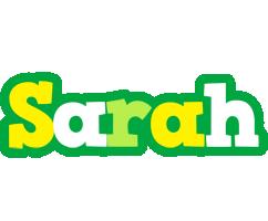 Sarah soccer logo