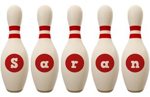 Saran bowling-pin logo
