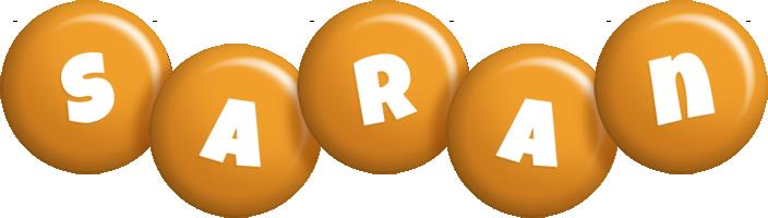 Saran candy-orange logo