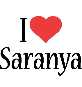 Saranya i-love logo