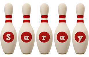 Saray bowling-pin logo
