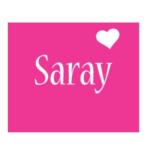 Saray love-heart logo
