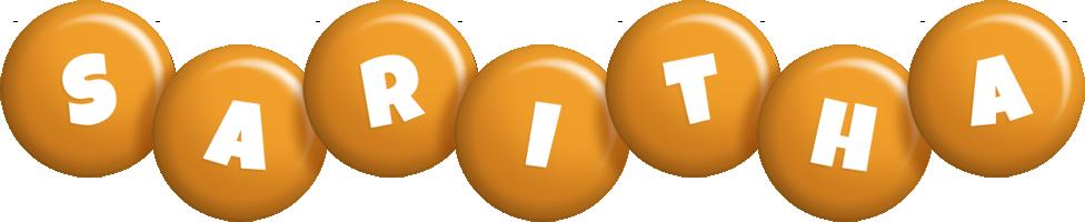 Saritha candy-orange logo