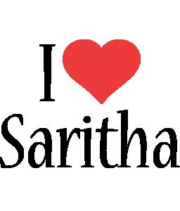 Saritha i-love logo