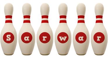 Sarwar bowling-pin logo
