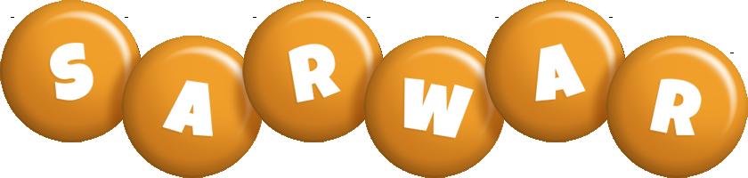 Sarwar candy-orange logo