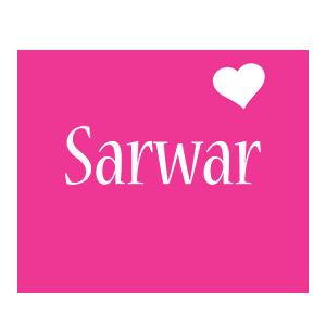 Sarwar love-heart logo