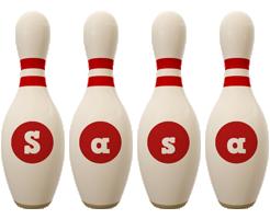 Sasa bowling-pin logo