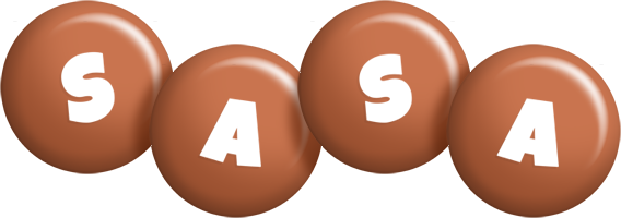 Sasa candy-brown logo