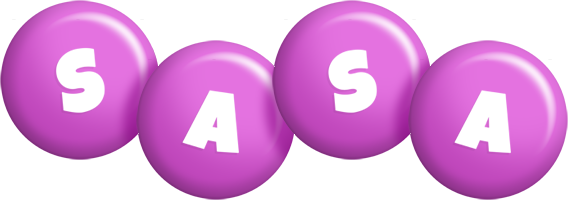Sasa candy-purple logo