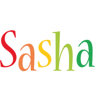 Sasha birthday logo