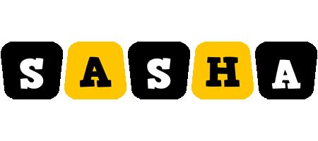 Sasha boots logo