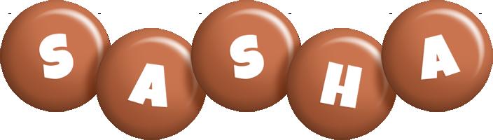 Sasha candy-brown logo