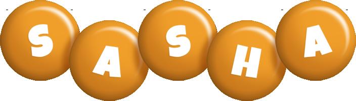 Sasha candy-orange logo