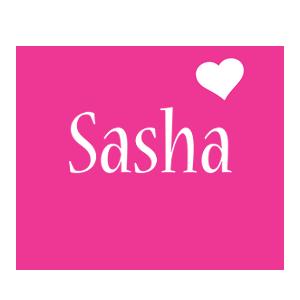 Sasha love-heart logo