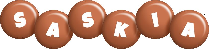 Saskia candy-brown logo