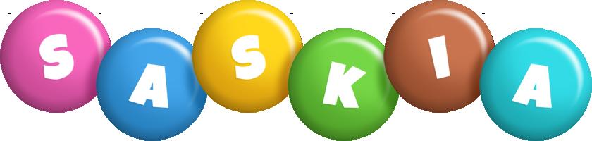 Saskia candy logo