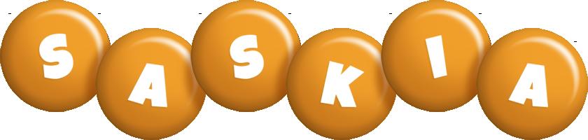 Saskia candy-orange logo