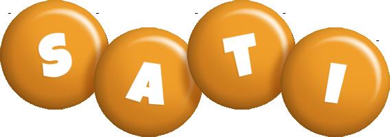 Sati candy-orange logo