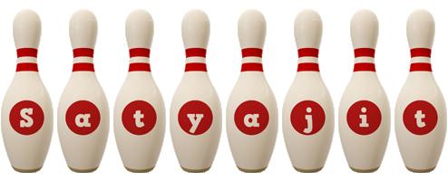 Satyajit bowling-pin logo