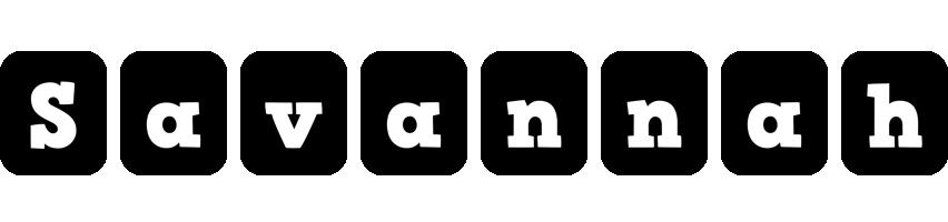 Savannah box logo