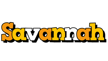Savannah cartoon logo