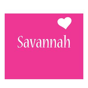 Savannah love-heart logo