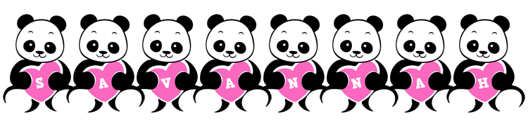 Savannah love-panda logo