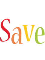 Save birthday logo