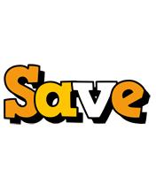 Save cartoon logo