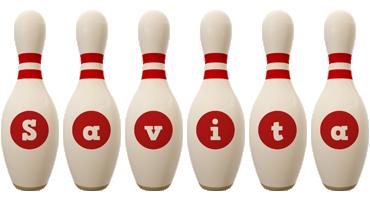 Savita bowling-pin logo