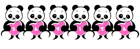 Savita love-panda logo