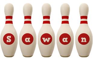Sawan bowling-pin logo
