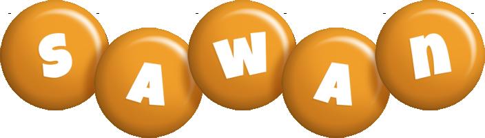 Sawan candy-orange logo