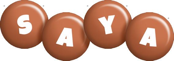 Saya candy-brown logo