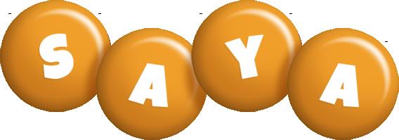 Saya candy-orange logo