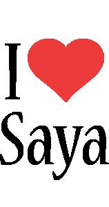 Saya i-love logo