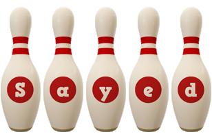 Sayed bowling-pin logo
