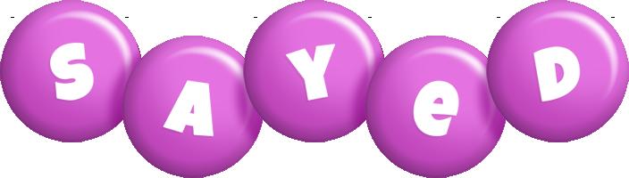 Sayed candy-purple logo