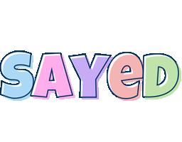 Sayed pastel logo