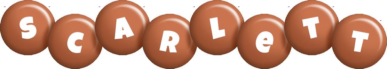 Scarlett candy-brown logo