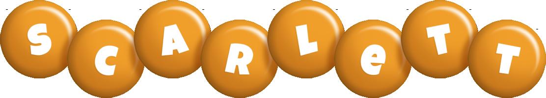 Scarlett candy-orange logo