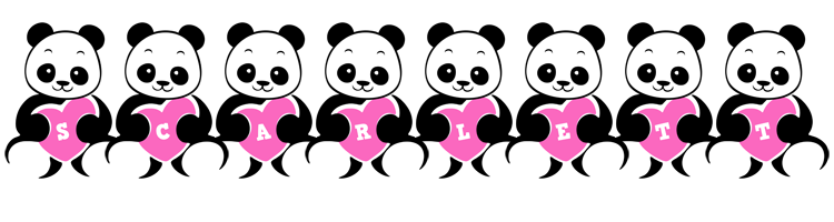 Scarlett love-panda logo