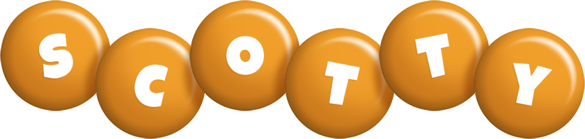 Scotty candy-orange logo