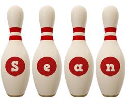 Sean bowling-pin logo