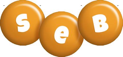 Seb candy-orange logo