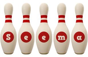 Seema bowling-pin logo