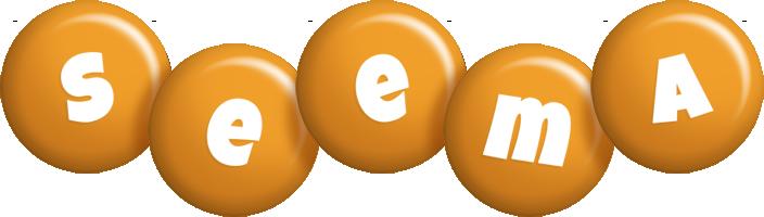 Seema candy-orange logo